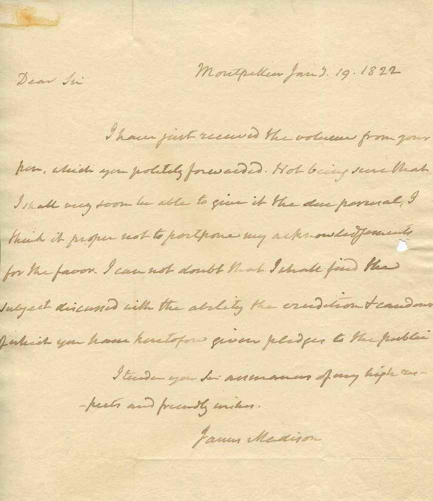 thomas jefferson and james madisons views essay He served on the council of state under governors patrick henry and thomas jefferson in  occupied by the madisons after the  facts about james madison.