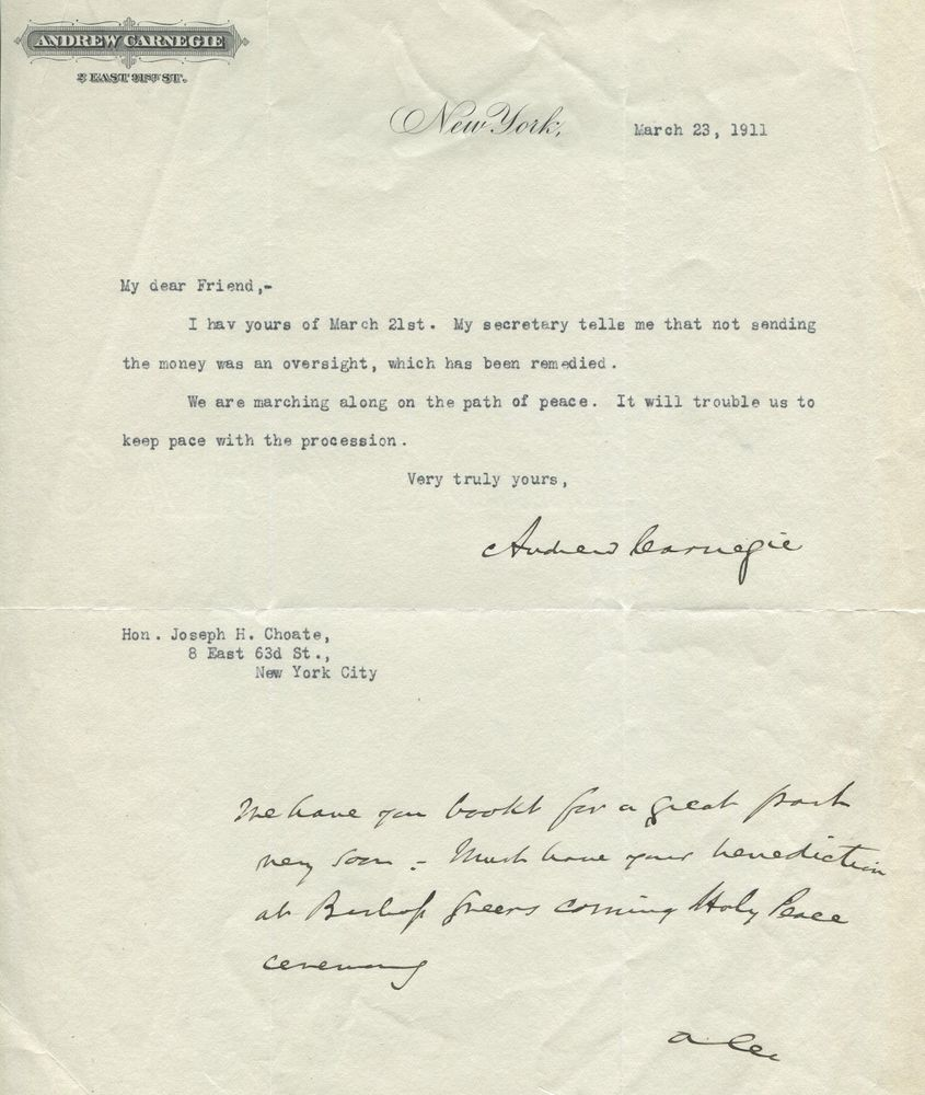 Andrew Carnegie | PSA AutographFacts™