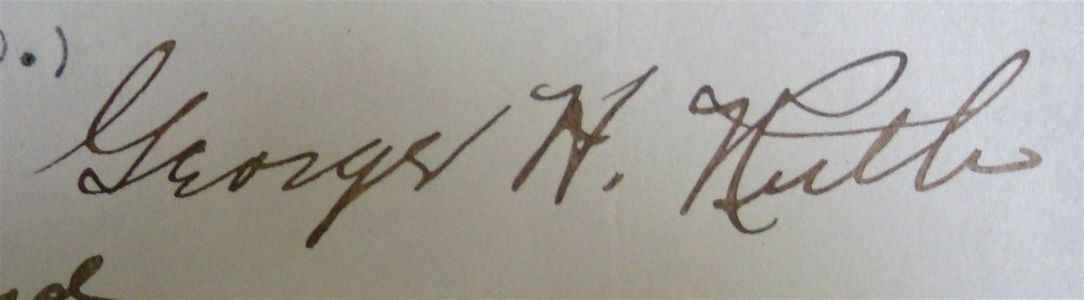 1920 Babe Ruth Signed Court Document