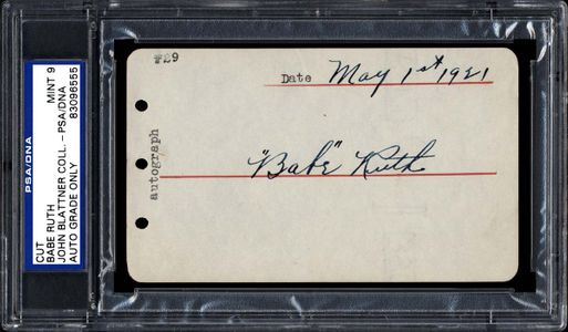 1921 Babe Ruth Signed Autograph Page