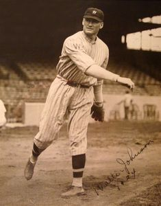 1924 Walter Johnson Signed Photo