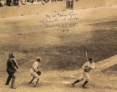 1927 Babe Ruth Signed and Inscribed Photograph