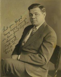 1929 Babe Ruth Signed Photo