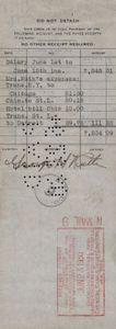 1930 Babe Ruth Signed Payroll Check