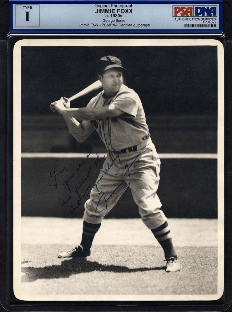 Jimmie Foxx Psa Autographfacts