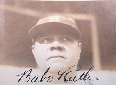 1934 Babe Ruth Signed Photo