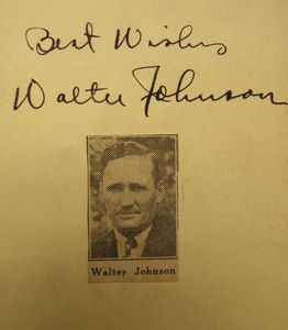 1934 Walter Johnson Signature