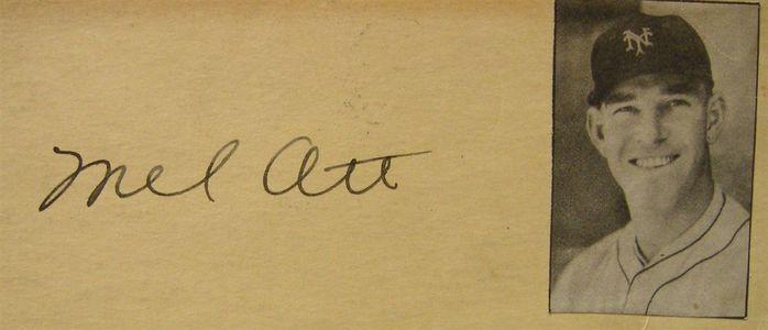 1935 Mel Ott Signature