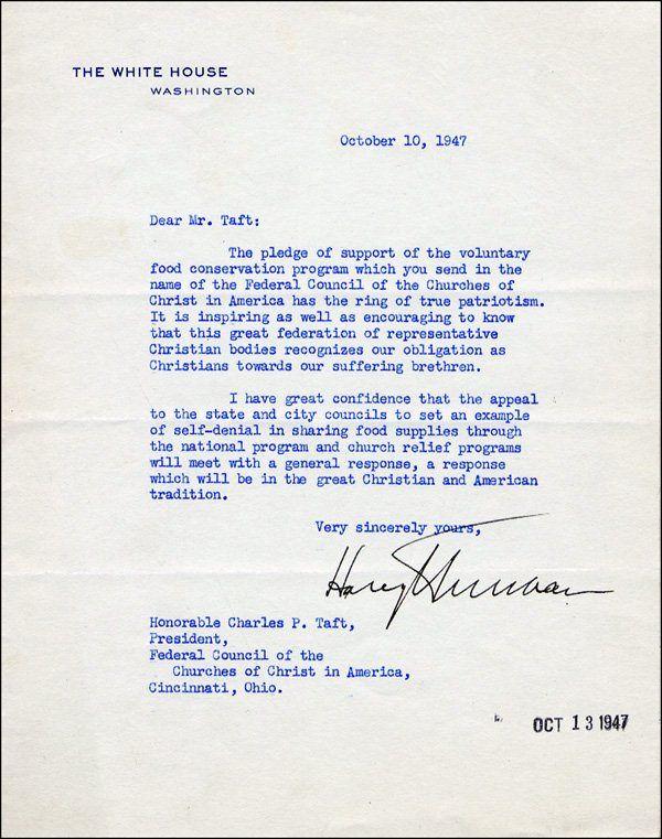 U.S. Presidents   Harry S. Truman   Images   PSA AutographFacts™