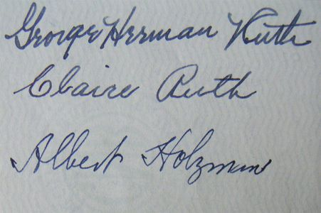 1948 Babe Ruth Endorsed Check