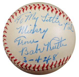 1948 Babe Ruth Personalized Baseball