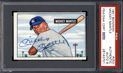 1951 Bowman Mickey Mantle Signed Card