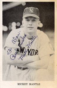 1951 Mickey Mantle Signed Photo