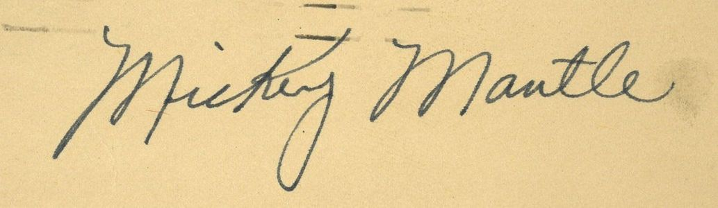 1951 Mickey Mantle Signed Postcard