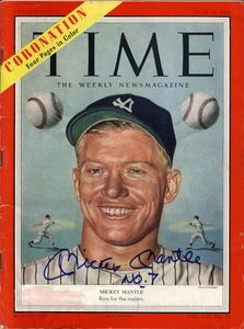 1953 Mickey Mantle Signed Time Magazine Cover