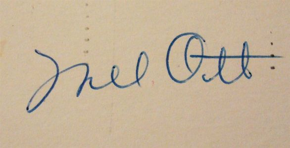 1956 Mel Ott Signature