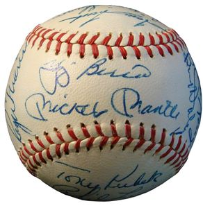 1962 Mickey Mantle Signed Team Ball