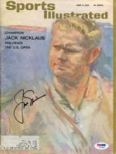 1963 Jack Nicklaus Signed SI Cover