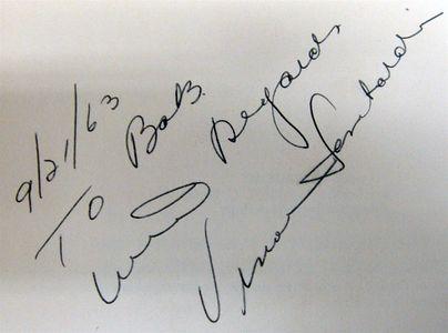 1963 Vince Lombardi Signature