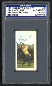 1971 Barratt & Co. Ltd. #6 Jack Nicklaus Signed Card