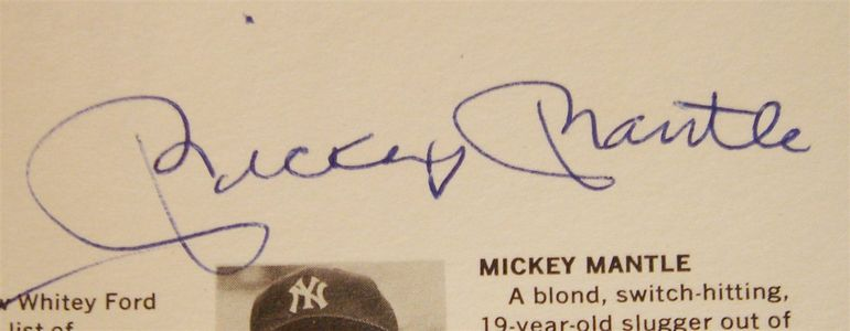 1972 Mickey Mantle Signature