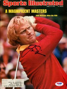 1975 Jack Nicklaus Signed SI Cover