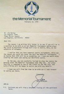 1978 Jack Nicklaus Signed Letter