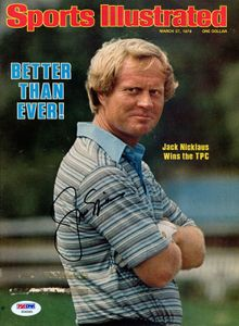 1978 Jack Nicklaus Signed SI Cover