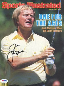1986 Jack Nicklaus Signed SI Cover