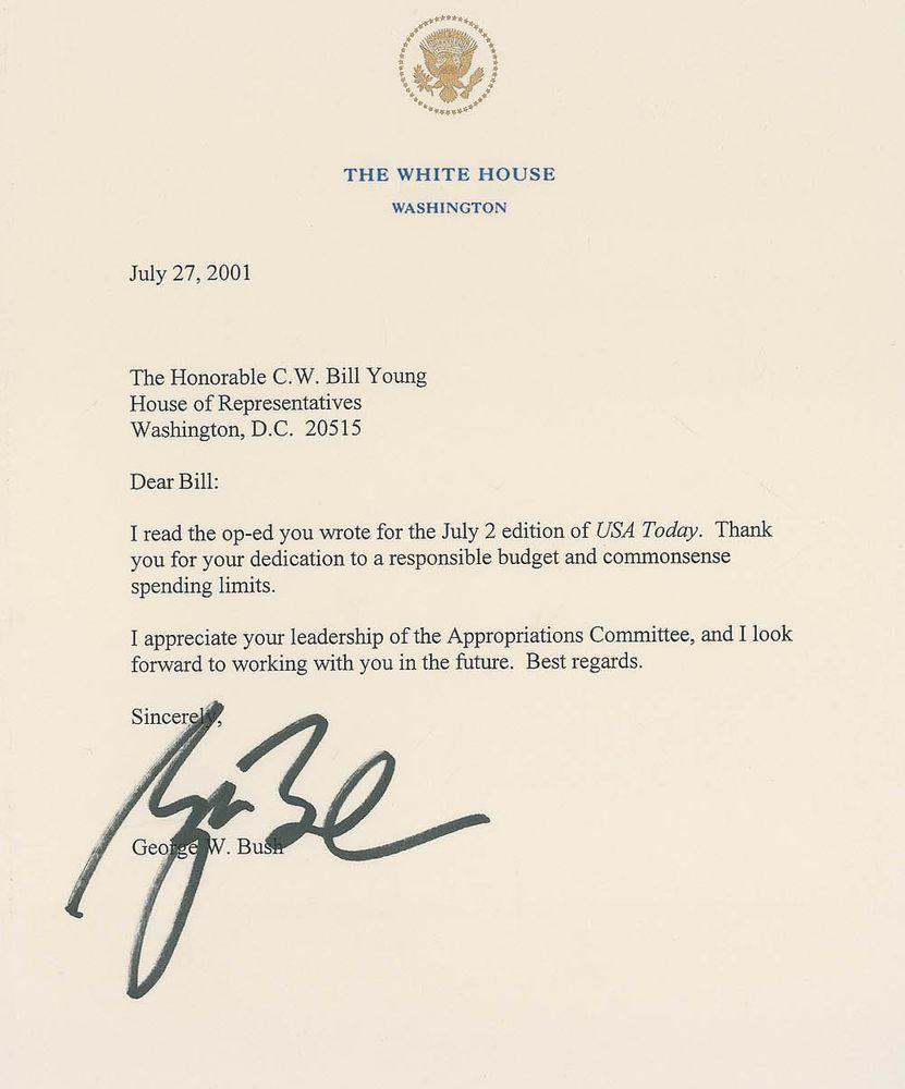 George W Bush Psa Autographfacts