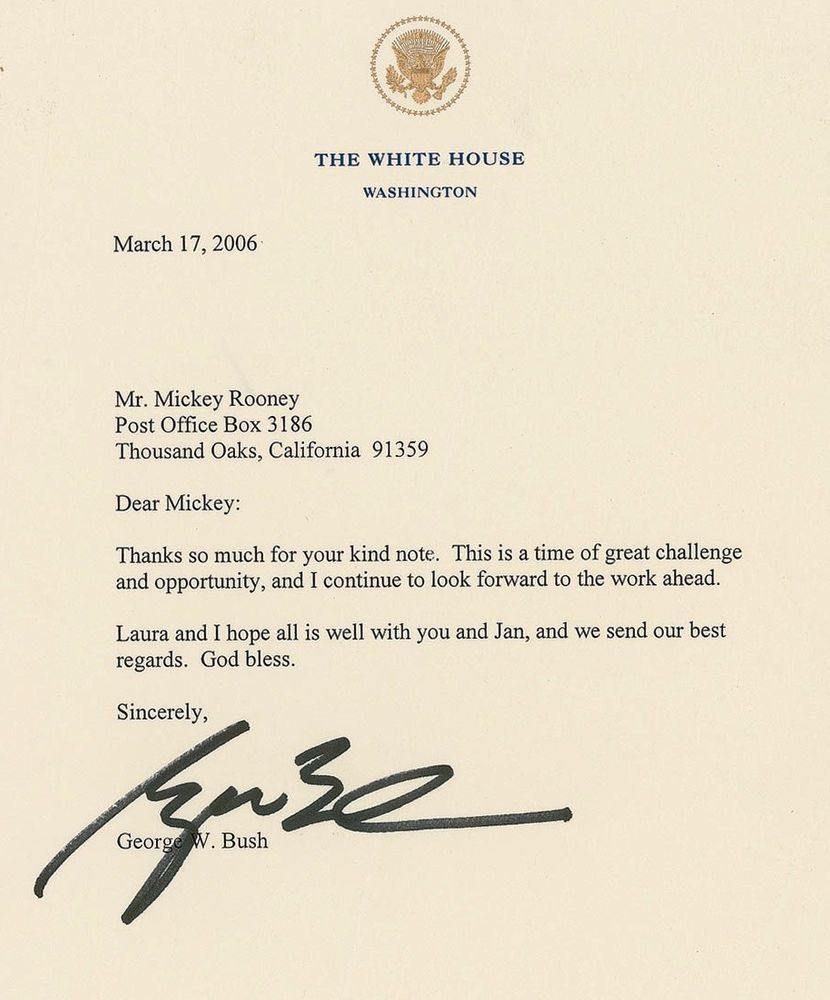 George w bush psa autographfacts george w bush view gallery aiddatafo Image collections