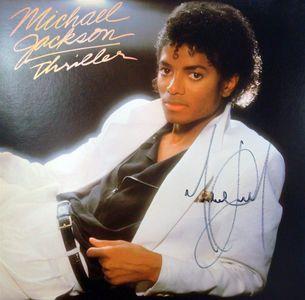 2009 Michael Jackson Signed Thriller Album Cover