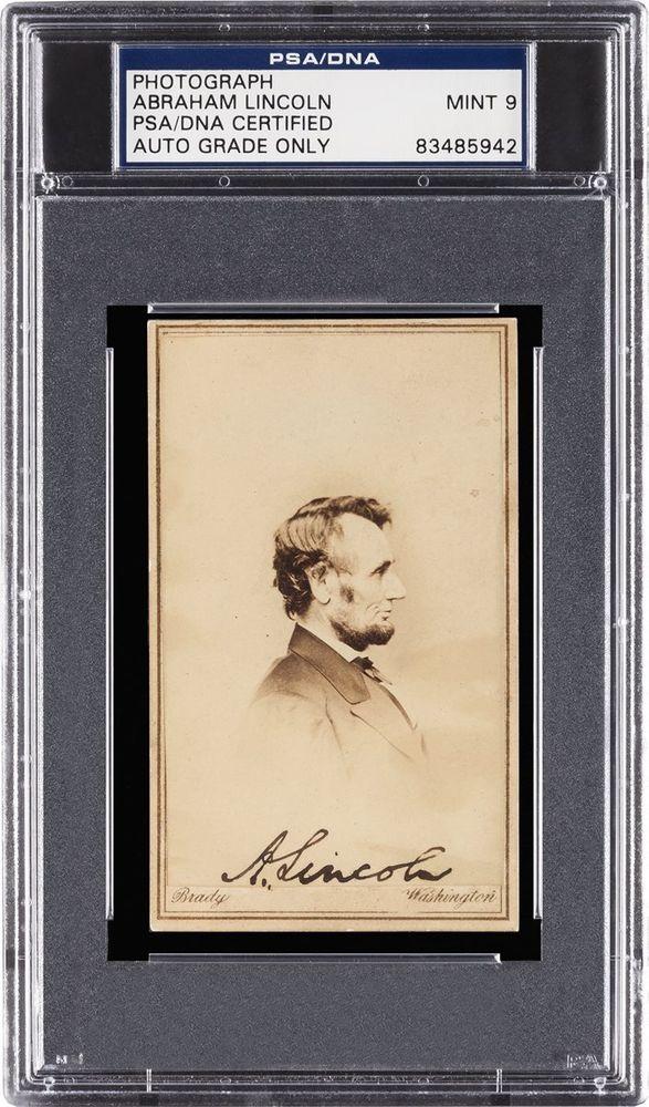 Abraham Lincoln Psa Autographfacts