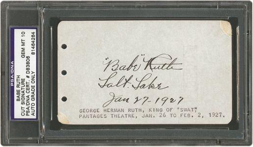 Babe Ruth Cut Signature