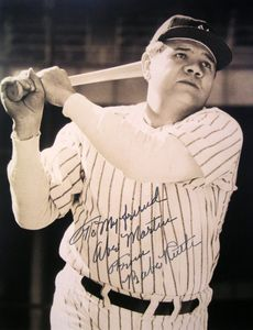 Babe Ruth Inscribed Photo