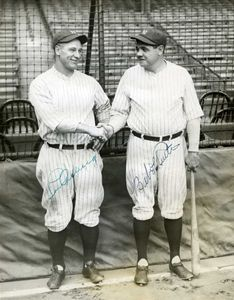 Babe Ruth-Lou Gehrig Signed Photo