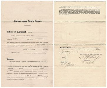 1918 Babe Ruth Signed Contract