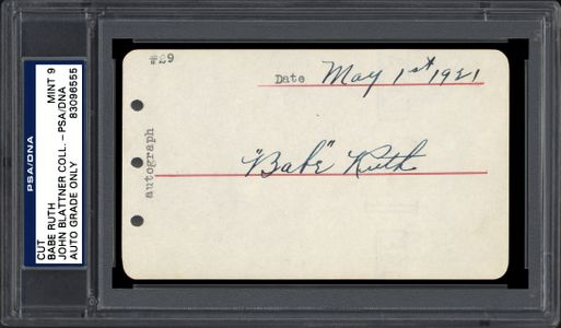 Babe Ruth Signed Album Page