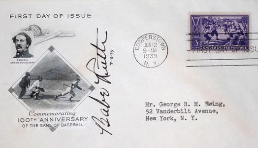 Babe Ruth Signed and Inscribed First Day Cover