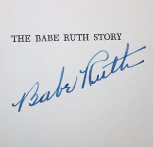 Babe Ruth Signed Book