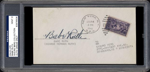 Babe Ruth Signed Envelope