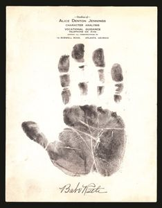 Babe Ruth Signed Hand Print