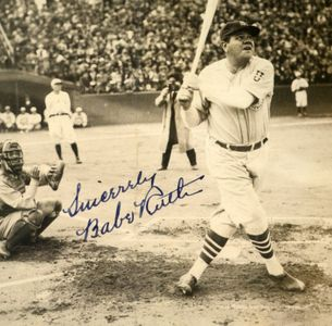 Babe Ruth Signed Tour of Japan Photo