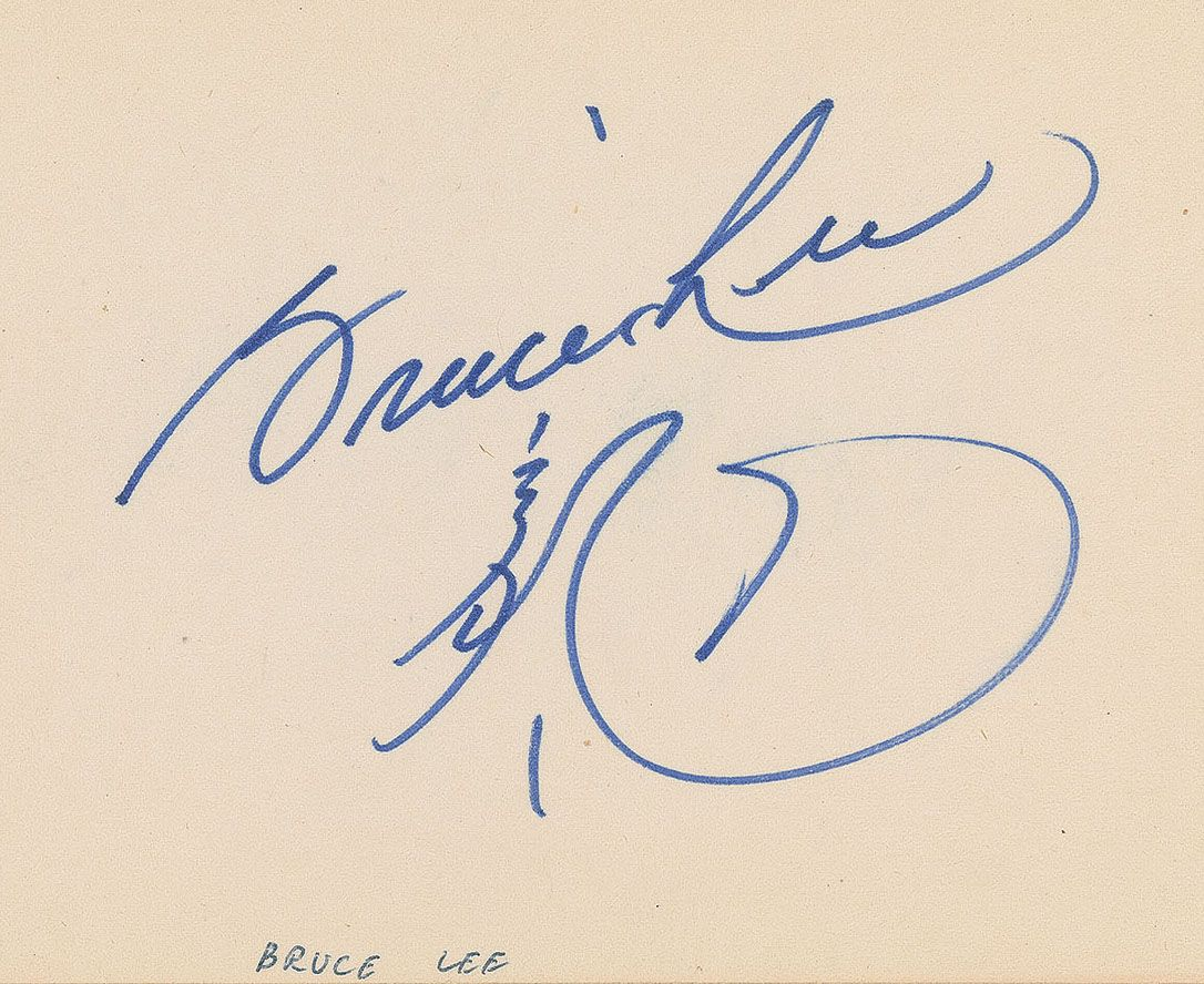Bruce lee psa autographfacts for Lee signature homes