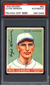 Clyde Manion Signed Card