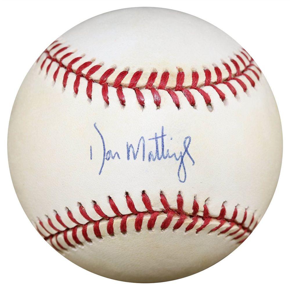 Baseball Don Mattingly Images Psa Autographfacts