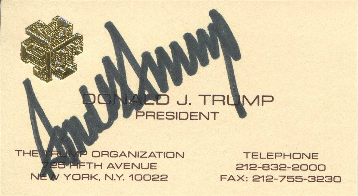 Us Presidents Donald Trump Images Psa Autographfacts