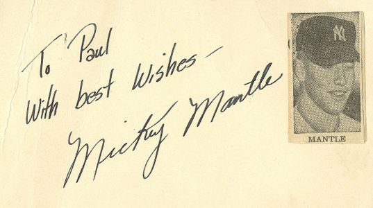 Early Mickey Mantle Personalized Signature