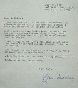 Effa Manley Signed Letter (Full)