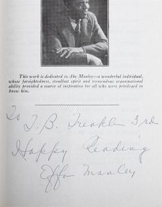 Effa Manley Signed Page